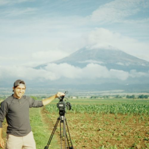 Making a timelapse of a Mexican volcano.